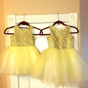 2 girls' dresses. Sizes 6 and 4. Worn only once!